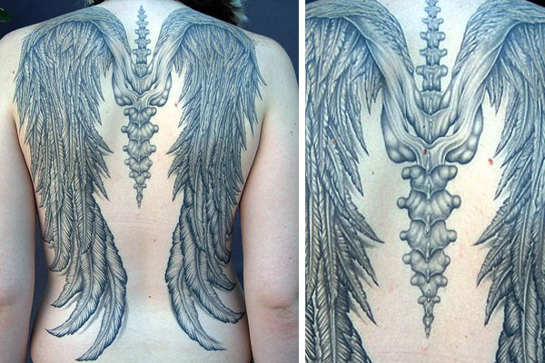 angel wing tattoos