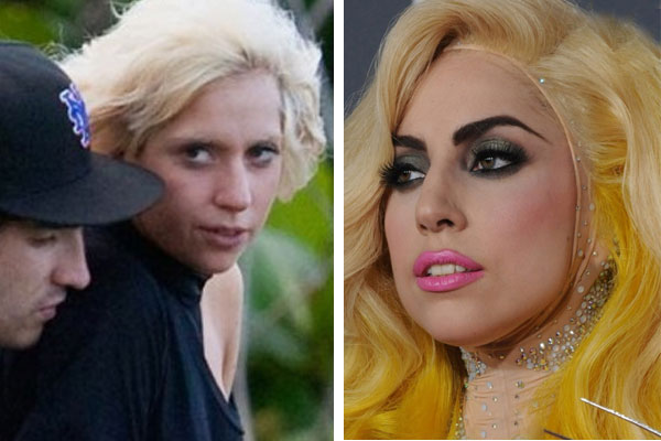 lady gaga without makeup before and after. Lady Gaga Unmasked!