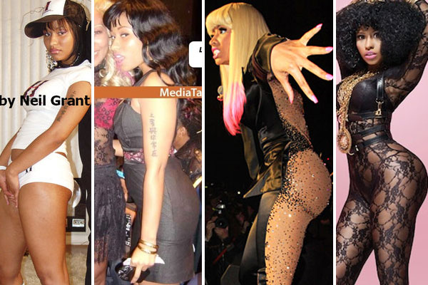 pictures of nicki minaj booty before and after. Nicki#39;s butt went from barely