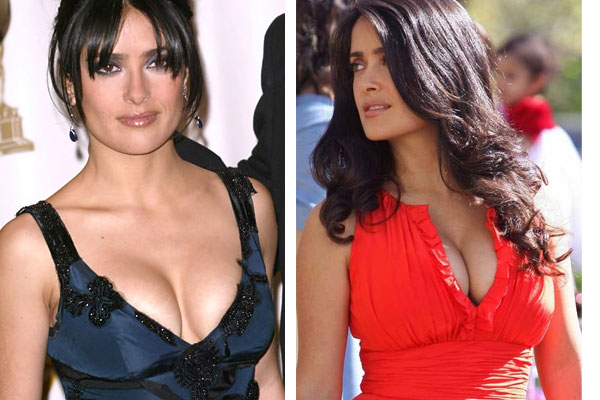 salma hayek before and after