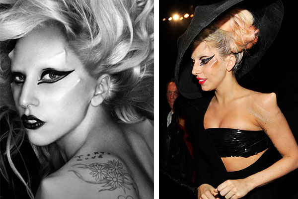 pictures of lady gaga before plastic surgery. Lady Gaga Horns