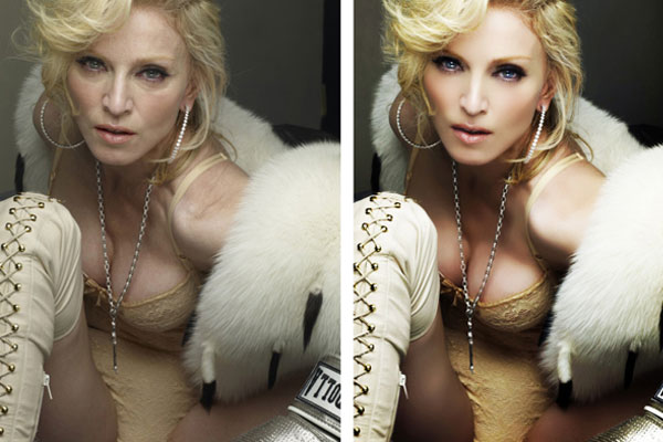 Madonna goes from Hag to Fab with Photoshop