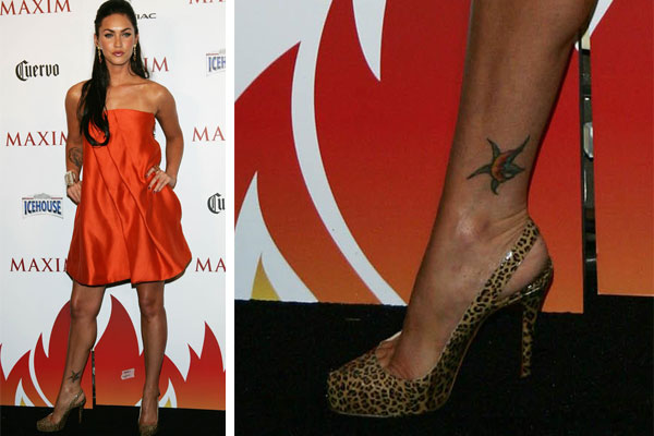 megan fox ankle tattoo