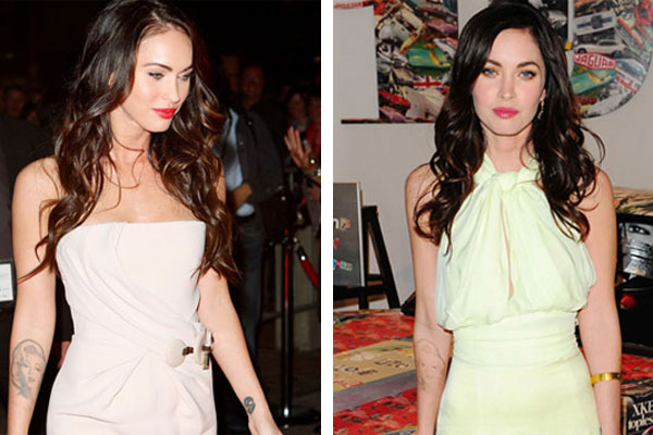 megan fox plastic surgery 2011 before and after. megan fox marilyn tattoo