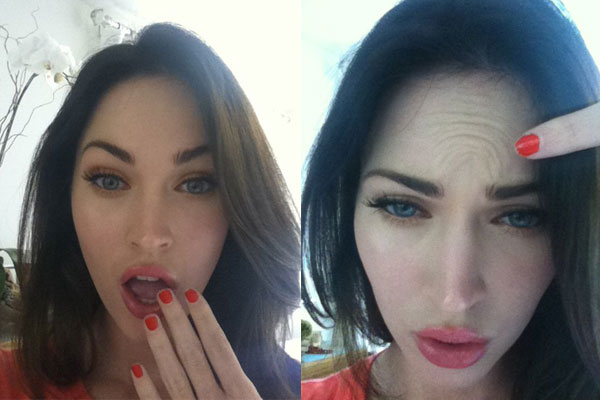 "Megan Fox ""Proves"" She Doesn't Have Botox"