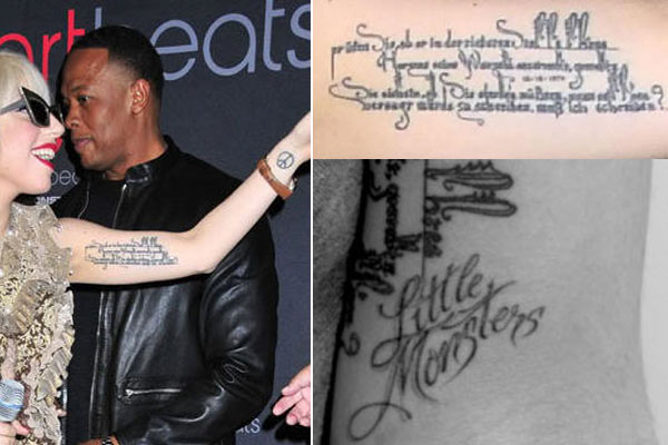 Lady Gaga Tattoos and Their Meanings