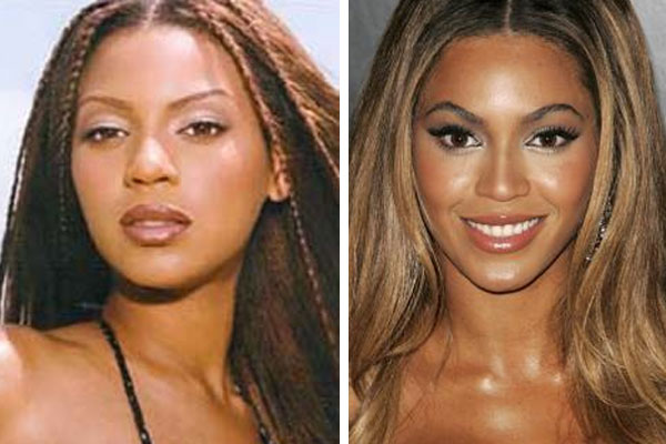 beyonce before and after